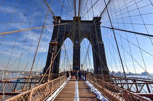 Photo  Brooklyn Bridge, Winter - New York CIty