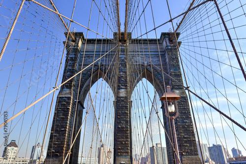 Foto op Canvas Brooklyn Bridge Brooklyn Bridge, Winter - New York CIty