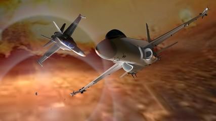 FototapetaFighting airplanes