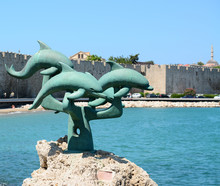 Harbor Of Rhodes Island In Gre...