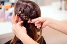 Beautiful Woman In Hair Salon