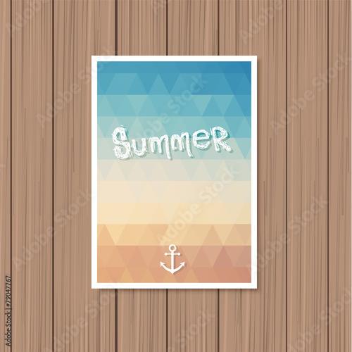 Fotografie, Obraz  Vintage summer poster
