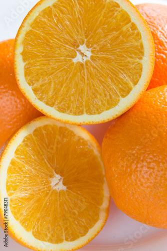 Photo Stands Slices of fruit orange