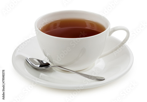 Poster The Cup of tea isolated on white background