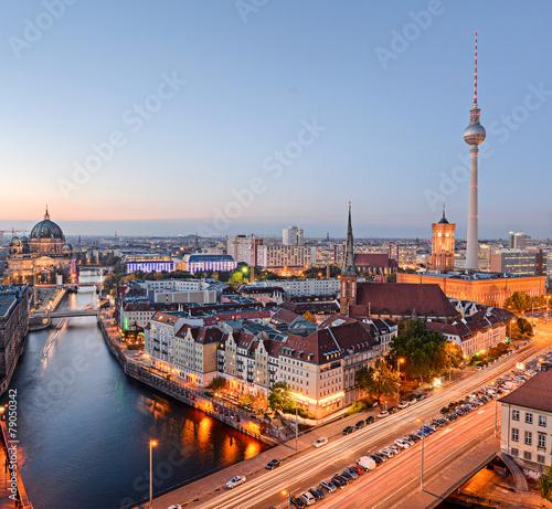 Keuken foto achterwand Berlijn Stadtansicht Berlin von oben