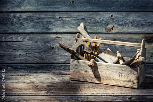 Vintage carpenters tool box