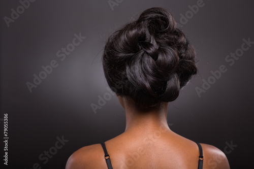 Photo Stands Hair Salon african female stylish hairstyle