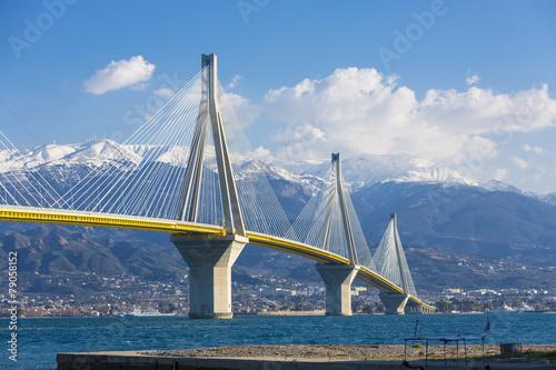 Valokuva  The Rio Antirrio bridge in Greece