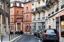 Paris Beautiful Street In The Historic Heart Of The City