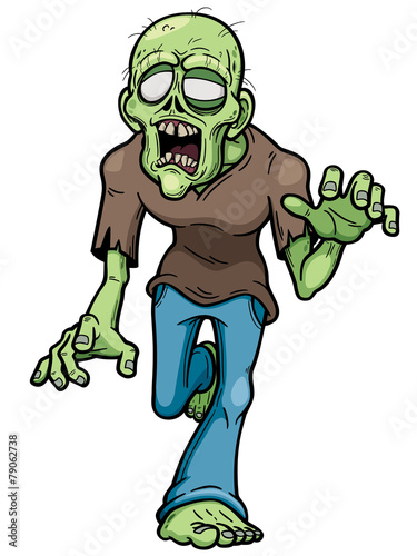 Vector illustration of Cartoon zombie Fotobehang