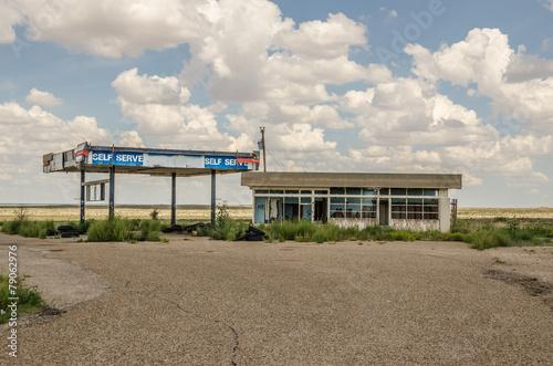 Fotografie, Obraz  Bývalý 66 Servisní stanice trasy