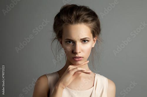 Fotografie, Obraz  Studio portrét kavkazský dívka