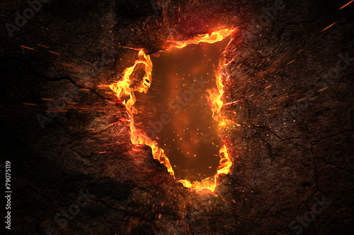Tuinposter Vuur Fire Background