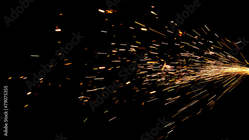 Fotomural Glowing Flow of Sparks in the Dark
