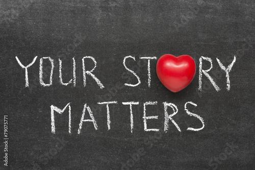 Fotografie, Obraz  story matters