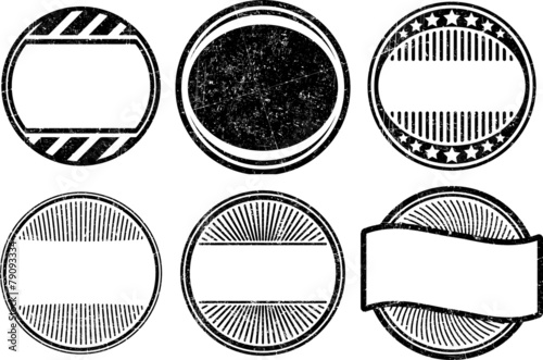 set of grunge rubber stamps templates buy this stock vector and