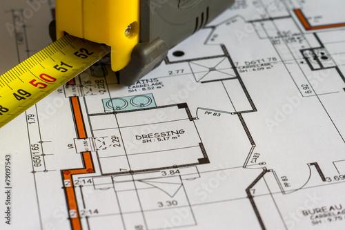 Fotografía  Medidas de construcción del plan