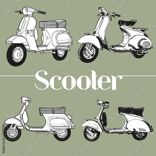 Photo  Symbol lambretta vespa scooter mod
