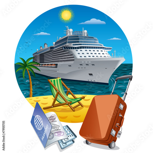 island cruise Fototapeta