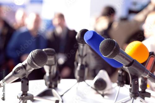 Obraz Press conference - fototapety do salonu