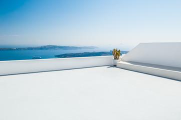 Fototapeta na wymiar White architecture on Santorini island, Greece