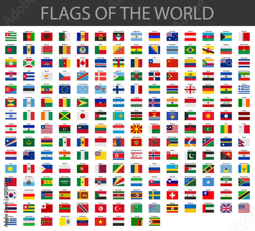 Fotografie, Obraz  world flags vector