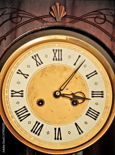 Staande foto Vintage Poster Antique clock dial