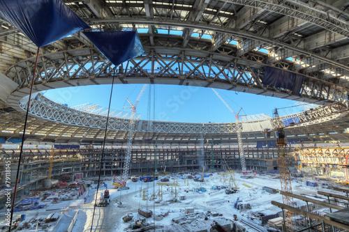 Foto op Aluminium Stadion Reconstruction Luzhniki Stadium, Moscow