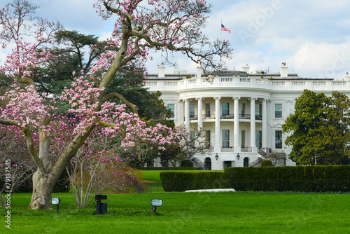 Valokuva  White House in Spring - Washington DC USA