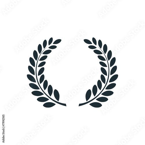 Fotografia, Obraz  Laurel wreath , simple concept logo.