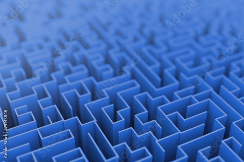 Infinite maze background, business concepts.