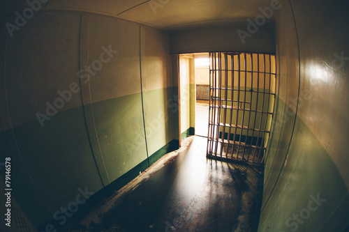 Inside of an abandoned penitentiary #79146578