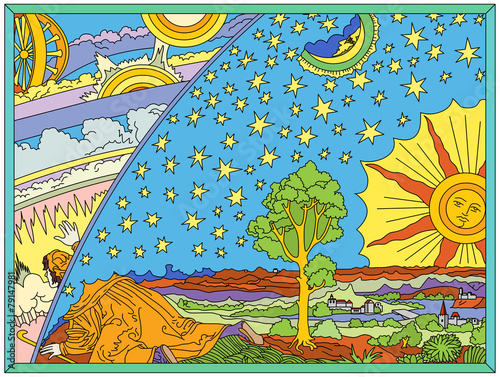 Photo Edge of the Earth (allegory known as Flammarion engraving)
