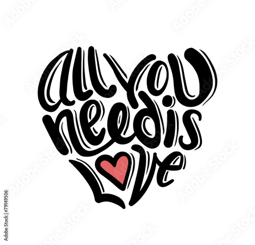 Photo  All you need is love vector