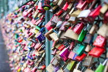 Love Padlocks In Cologne, Germany