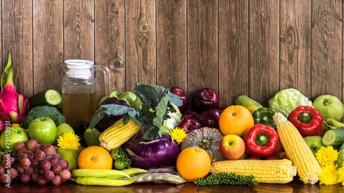 Foto op Aluminium Vruchten Fruits and vegetables organics
