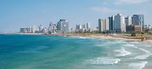 Promenade And Beach In Tel Aviv