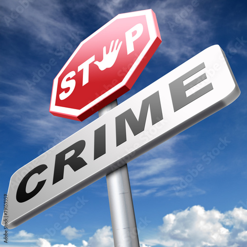 Photo  stop crime sign