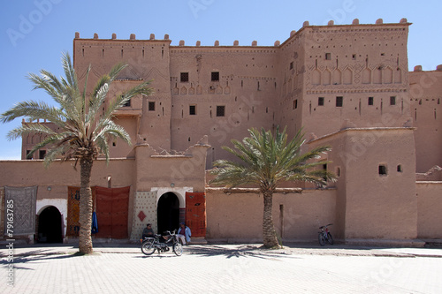 Poster Marokko Marocco kasbah Taourirt