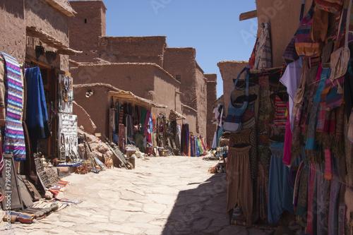 Foto op Plexiglas Marokko Kasbah commercio - vendita