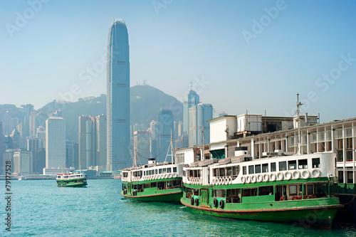 Foto auf Leinwand Hongkong Hong Kong ferry transportation