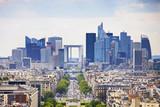 Fototapeta Paryż - La Defense business area, Grande Armee avenue. Paris, France
