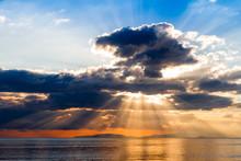 Crepuscular Rays On Tyrrhenian...
