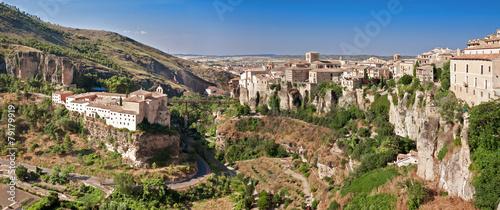 View of city of Cuenca, province Cuenca, Castilla-La Mancha, Spa