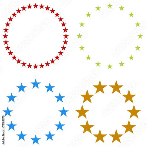 Obraz Star Banner Icon - fototapety do salonu