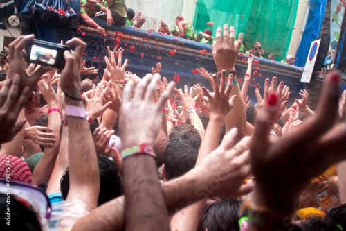 Tomatina festival in Bunol