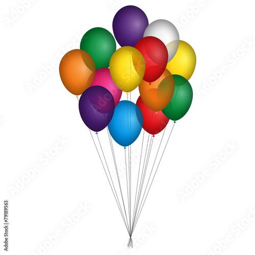 Palloncini colorati legati insieme Tapéta, Fotótapéta