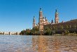 Cathedral and Ebro river in Zaragoza. Aragon, Spain