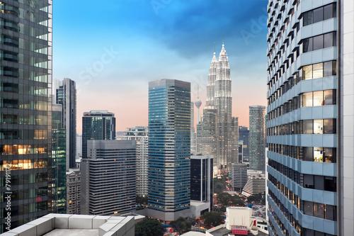 Foto op Aluminium Kuala Lumpur Kuala Lumpur city skyline