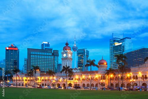 Sultan Abdul Samad Building in Kuala Lumpur Canvas Print